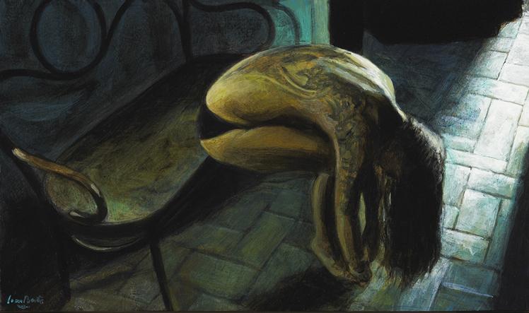 Ramon Lombarte pinta Joana Catot