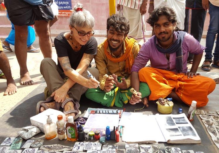 Joana Catot a Tamil Índia